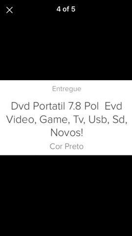 Dvd portátil  com várias  funções  - Foto 2