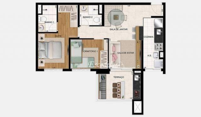 CIDADE MAIA - BOTÂNICA 2 Dorm 1 Suite - Foto 2