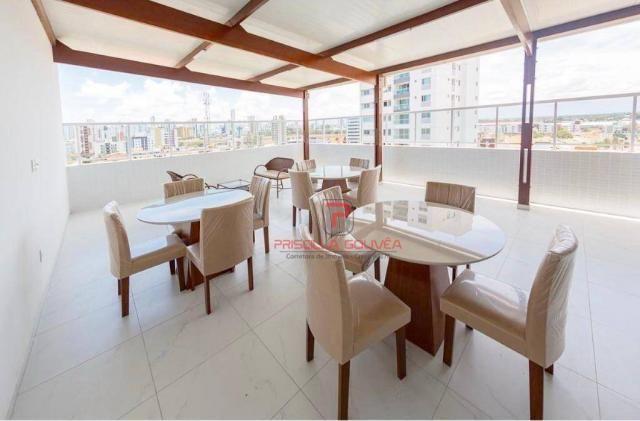 Apartamento 3 quartos no Bessa com varanda gourmet e área de lazer - Foto 4