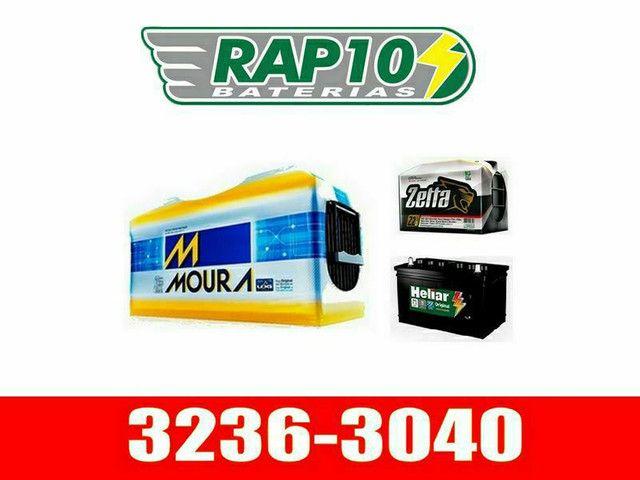 Bateria de 100 e 150AH Moura