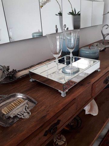 Bandeja espelhada, espelho , MDF, casa, mesa, cozinha, sala, banheiro  - Foto 3