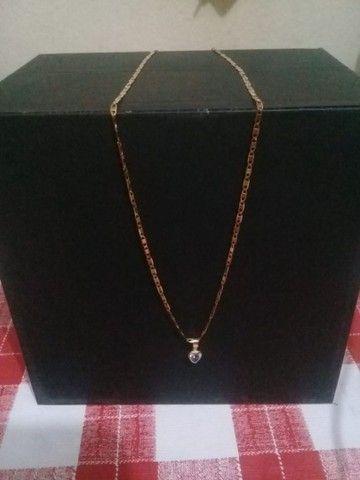 Cordão de ouro puro piastrini 600 ou aceitamos um milheiro de tijolo  - Foto 2