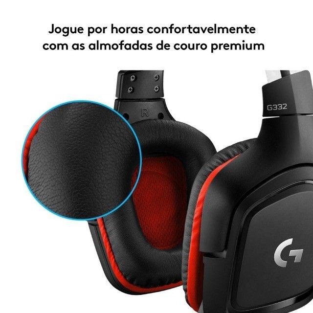 Headset Gamer Logitech G332  Stereo  Drivers 50 mm Novo Lacrado - Loja Natan Abreu  - Foto 6