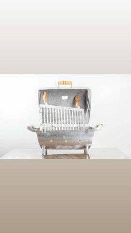 Churrasqueira de alumínio fundido M(novo de loja?