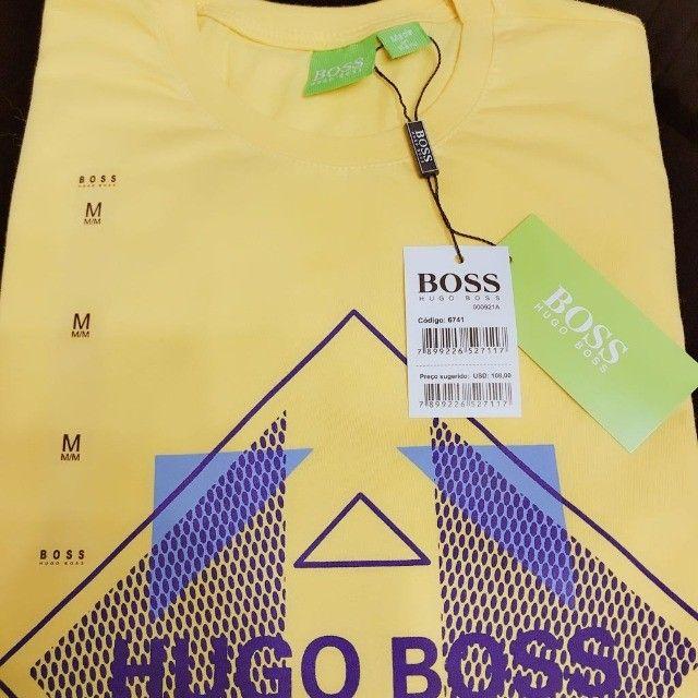 camisetas importadas atacado minimo 10 pcs hugo boss  - Foto 3