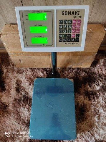 Balança plataforma 150 kg base inox NOVAS - Foto 3