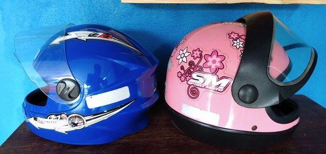 Desapego de dois capacetes - Foto 3