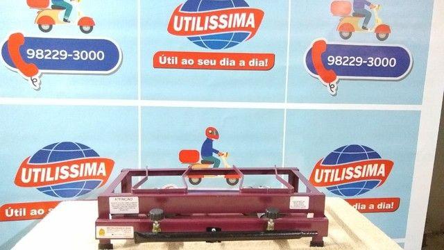 Fogão a Gás Alta Pressão 2 Bocas de mesa - Foto 2