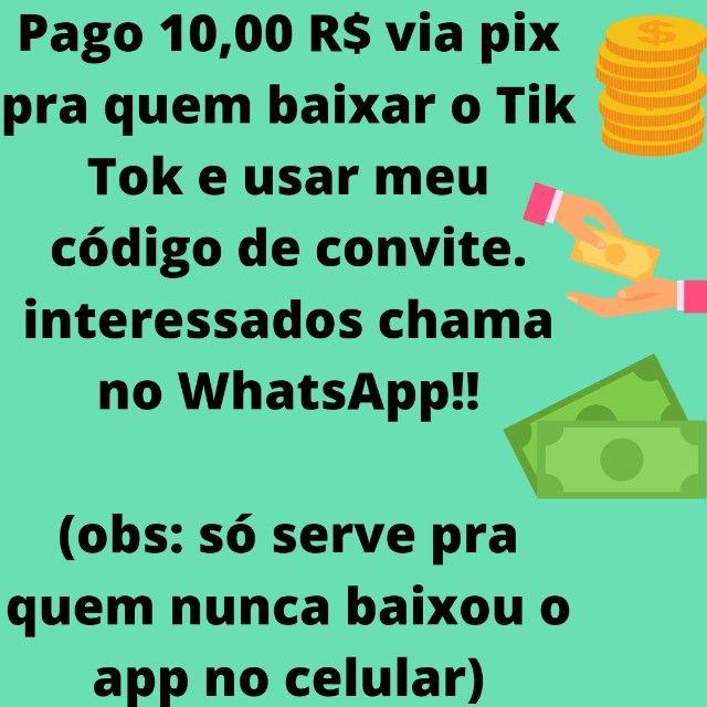 Pago 10 reais via pix