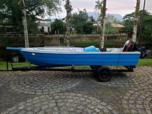 Vendo barco de Fibra - Foto 3