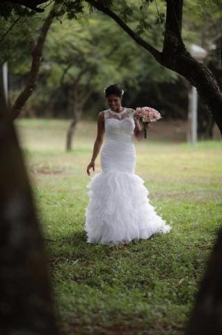 Vestido de noiva corte sereia do Fernando Peixoto, tamanho 38/40