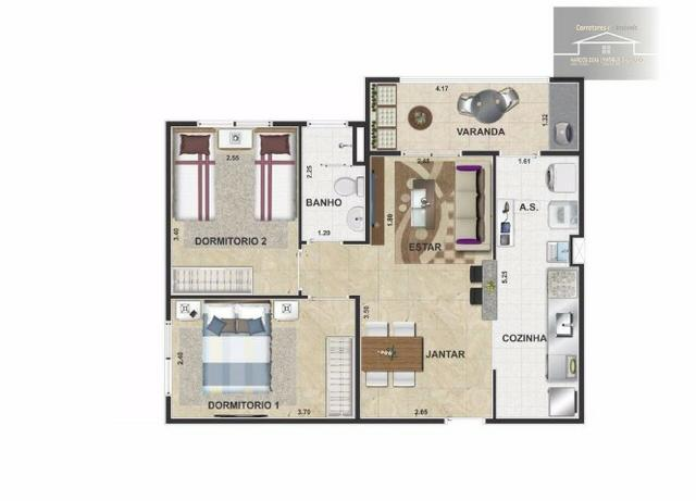 Lançamento de condomínio de apartamentos em Cosmópolis-SP (AP0014) - Foto 2