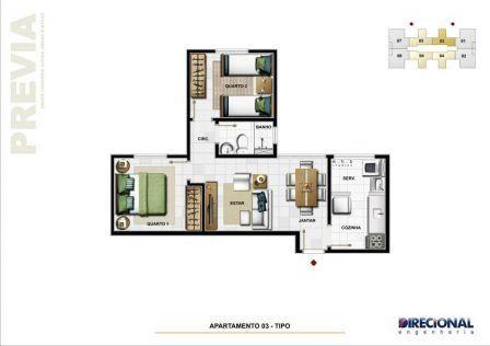 Apartamento 02 quartos com 01 vaga coberta - Foto 10