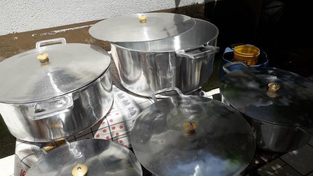 Panela de alumínio batido - Foto 3