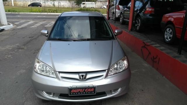 Honda Civic ex automatico 2006 + couro novinho - Foto 3