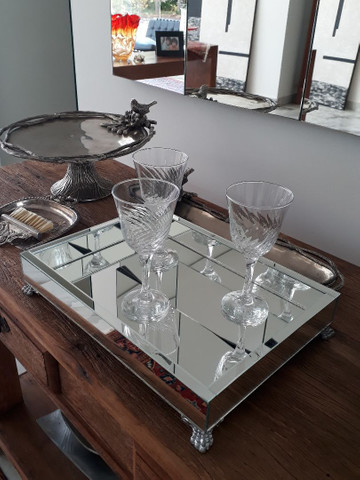 Bandeja espelhada, espelho , MDF, casa, mesa, cozinha, sala, banheiro  - Foto 6