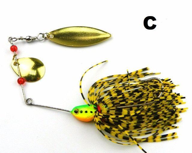 Isca Spinnerbait Spinner Bait Para Pesca Esportiva de Traíra Tucunaré Black Bass - Foto 3
