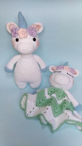 Chaveiro Unicórnio Em Crochê Amigurumi - R$ 22,00 em Mercado Livre | 480x270