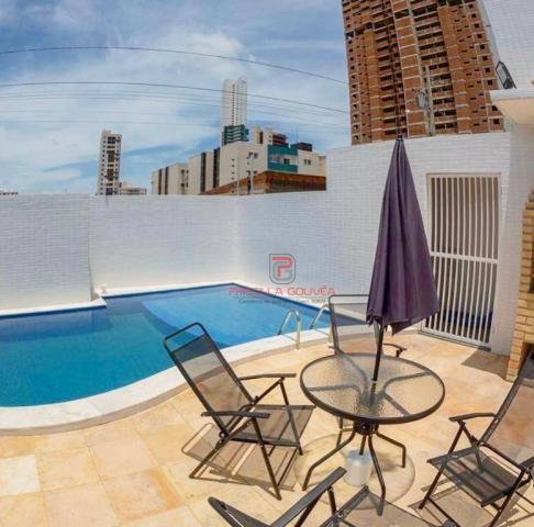 Apartamento 3 quartos no Bessa com varanda gourmet e área de lazer - Foto 2