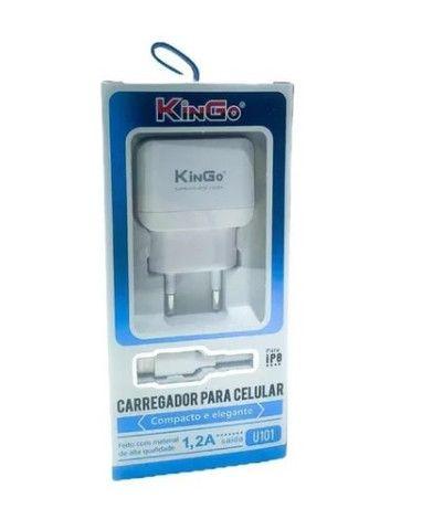 Carregador Iphone Kingo (Novo) - Foto 2