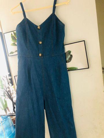 Macacão jeans M/G - Foto 2