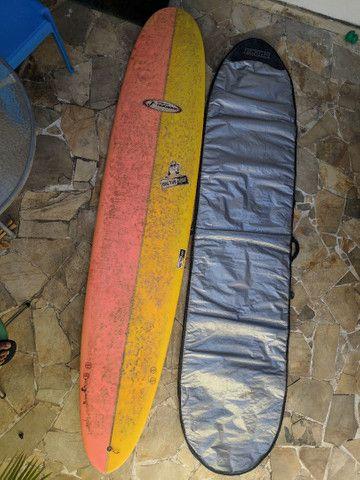 Longboard 9.0 + Capa + Quilha + Estrepe panturrilha - Foto 4