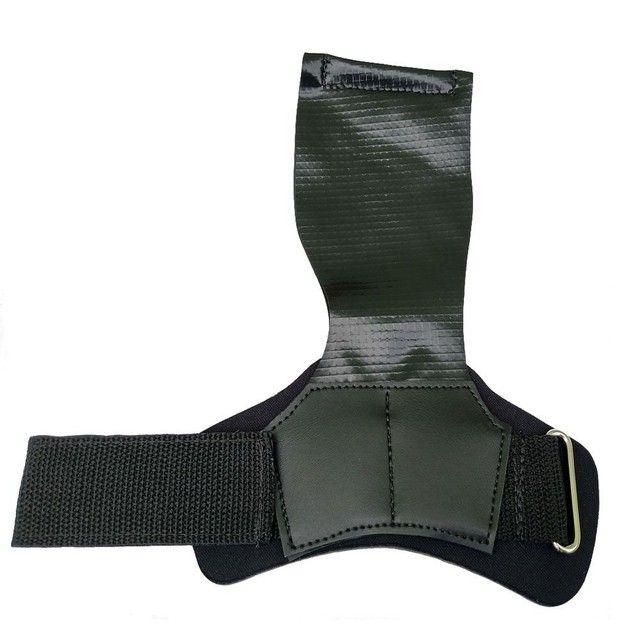 Kit crossfit joelheira, hand grip, corda - Foto 4