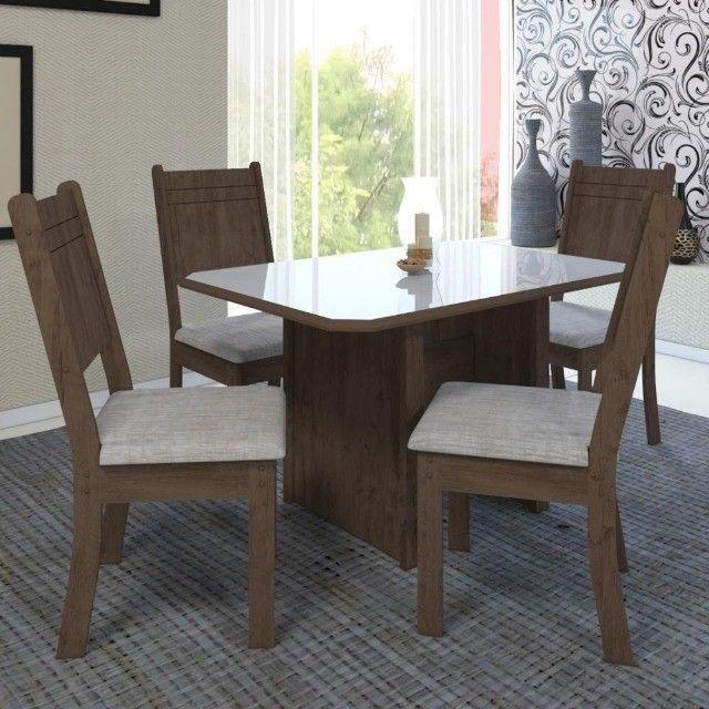 Mesa de Jantar New Charm 4 Cadeiras -- Entrega e montagem Na Hora