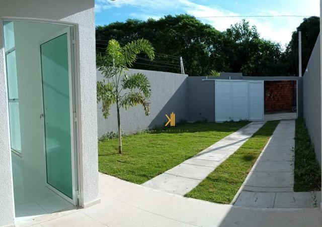 Casa com 3 dormitórios sendo 2 suítes à venda, 88 m² por R$ 219.000 - Timbu - Eusébio/CE - Foto 2