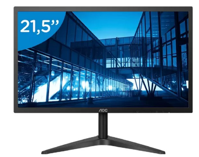Monitor para Pc AOC B1 22B1H 21,5? LED - Widescreen Full HD Hdmi Vga
