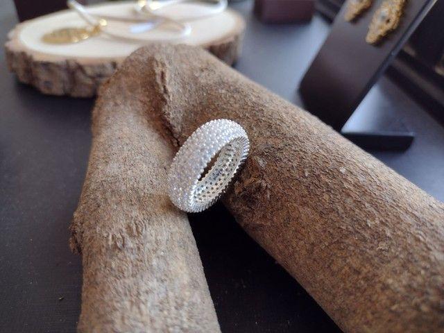 Aparador Com Pedras Zircônias Brancas - Foto 3