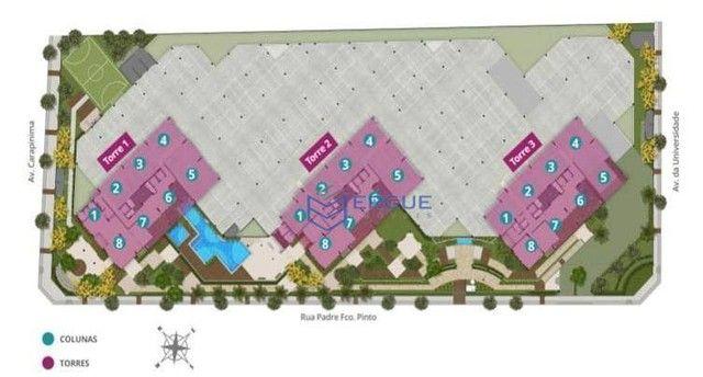 Apartamento com 2 dormitórios à venda, 56 m² por R$ 428.000,00 - Benfica - Fortaleza/CE - Foto 11