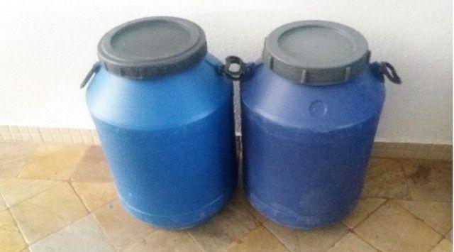 JR Tambores Leiterinha Plástico 50 Litros Tampa Rosqueável - Foto 4