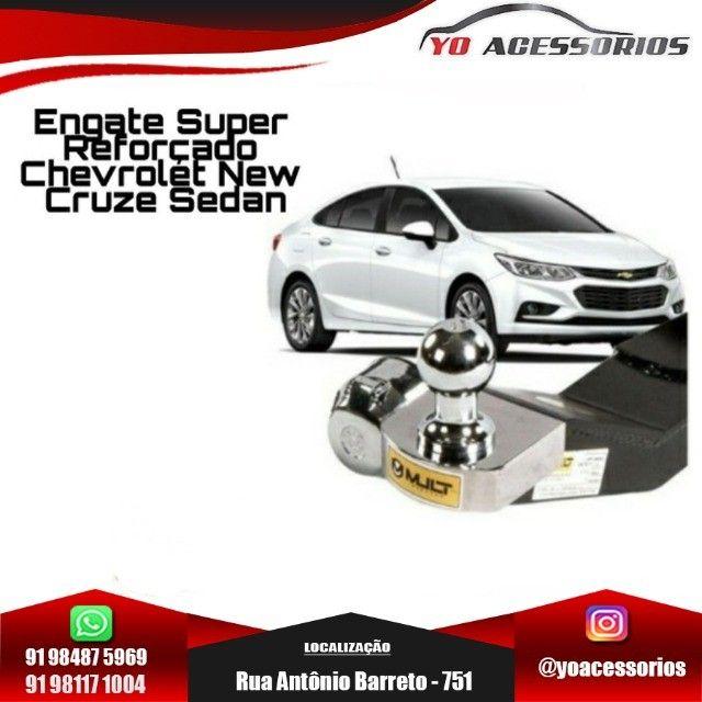 Engate Reboque Super Reforçado Chevrolet New Cruze Sedan