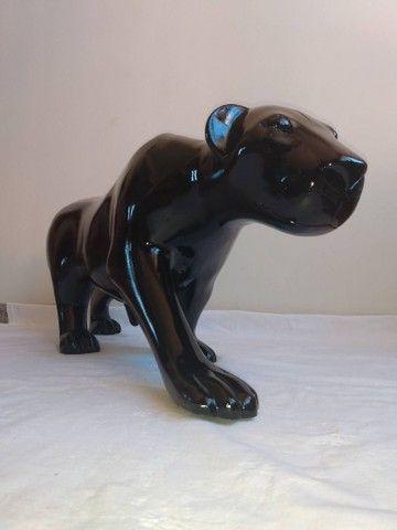 Escultura de PANTERA NEGRA em fibra de vidro e resina - Foto 2