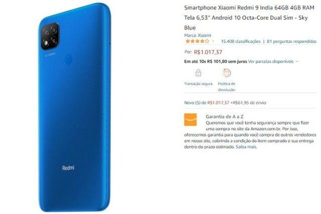 Vendo Xiaomi Redmi 9 64 GB novo - Foto 2