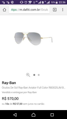 Óculos Ray Ban full color