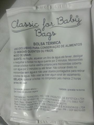 Bolsa Térmica para mamadeira e/ou comidinhas