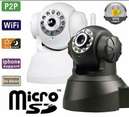 Câmeras de segurança wi fi.