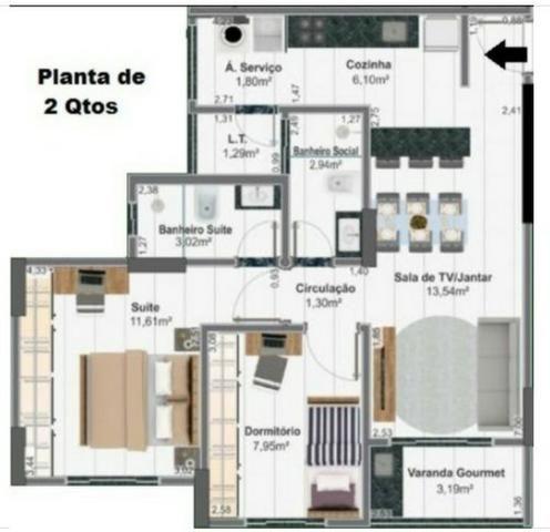 Apartamentos 2 quartos, 63 m² na 405 Sul - Torre Esmeralda - Foto 9