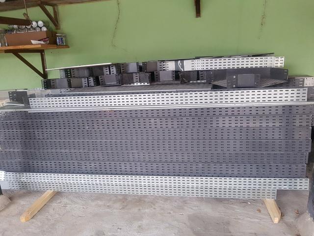 Eletrocalhas Com pintura Eletrostática 3metros. 37 peças - Foto 2