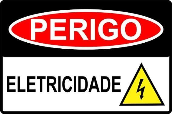 Placa De Sinalização Perigo Eletricidade 30x20 Novo Garantia - Foto 2
