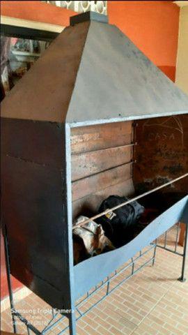 Vendo churrasqueira abaixe p vender logo - Foto 2
