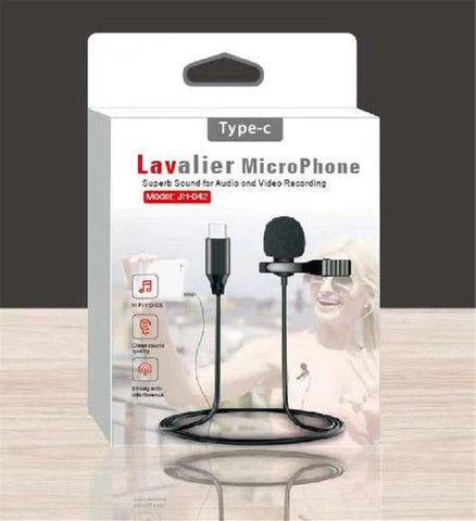 Microfone Lapela Tipo C Profissional Estéreo Som de Qualidade Condensado - Foto 4