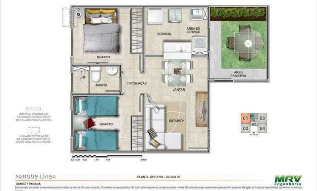 Parque Línea - Apartamento de 2 quartos em Cambé, PR ID3882 - Foto 8