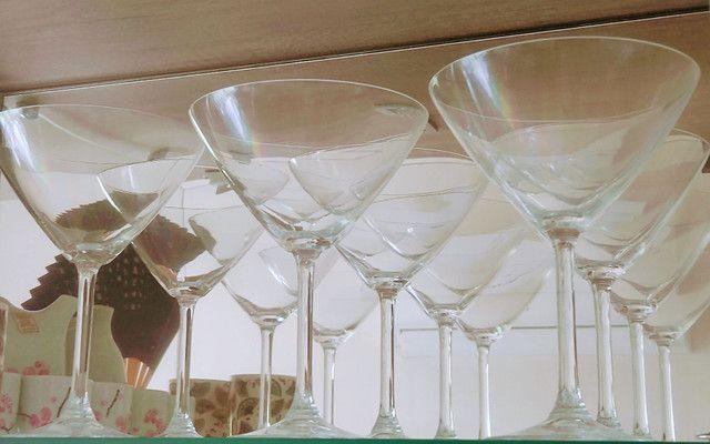 Vendo taças de cristal: vinho, água e martini marca Bohemia - Foto 2