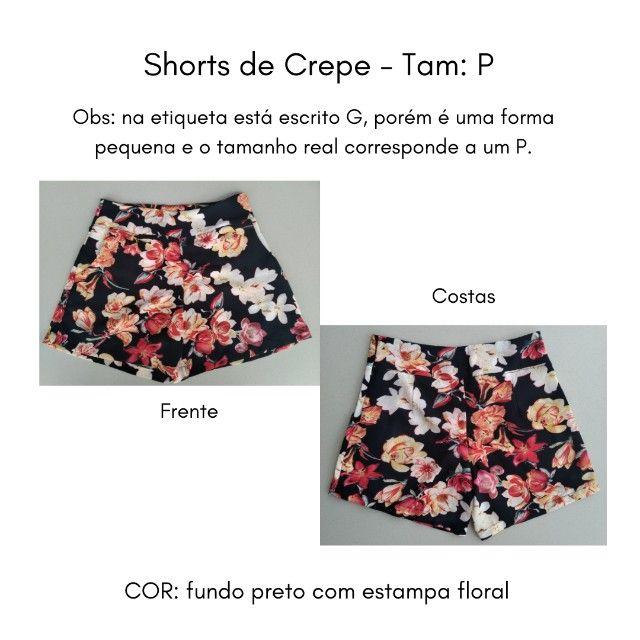 Shorts (Crepe) Estampado - P - Foto 3