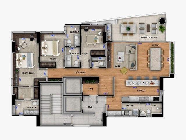 Apartamento andar alto 140 metros em Tambaú - Foto 14