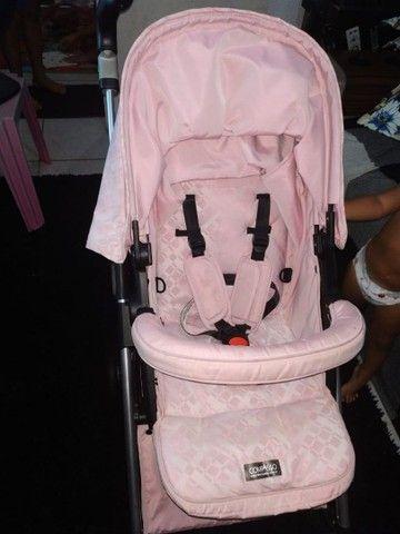 R$ 650 Carrinho Super novo + bebê Conforto - Foto 6