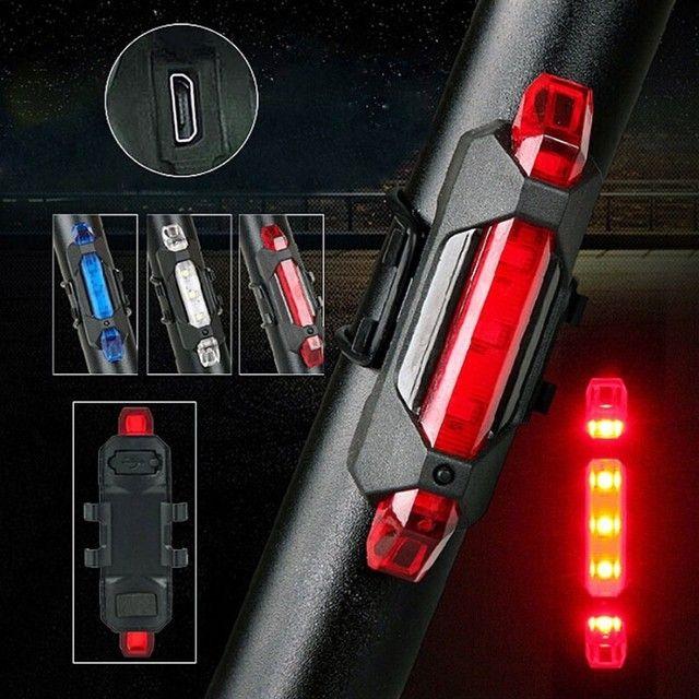 Promoção Farol lanterna LED traseiro para bike - Foto 3